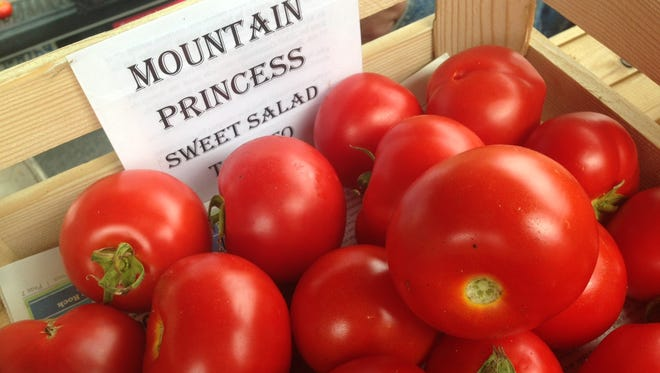 The Yancey County Farmers Market recently had its annual tomato tasting contest.