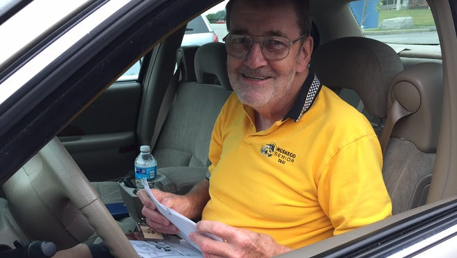 Mike Manthy sits behind the wheel as a volunteer driver for Muskego Senior Taxi in 2015. The nonprofit service, which provides roughly 600 rides per month to seniors and people with disabilities, will get $15,000, an added $10,000 boost, from the city of Muskego's 2019 budget.