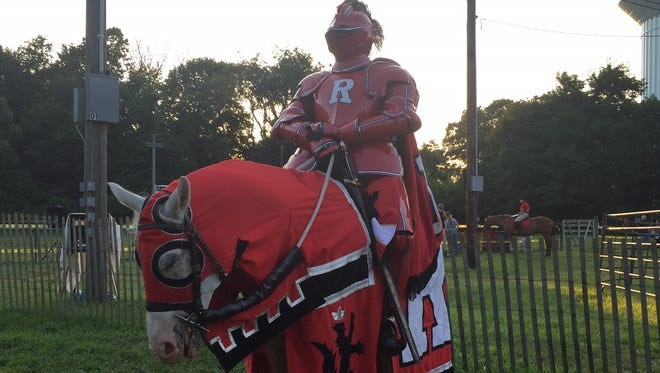 Visitors to the Middlesex County Fair got a chance to have their picture taken with the Rutgers Scarlet Knight mascot.