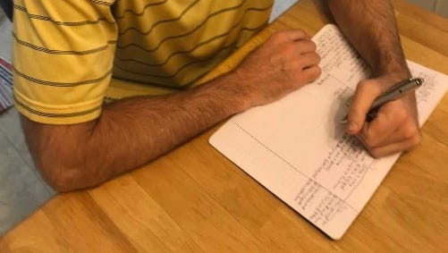 Gregg Doyel writes in his gratitude journal.