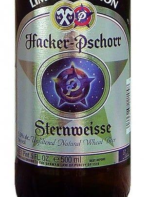 Sternweisse from Hacker-Pschorr in Munich is 5.5% ABV.