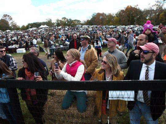The 95rd annual Far Hills Race Meeting at Moorland Farm in Far Hills, a fundraiser for Robert Wood Johnson University Hospital. October 17, 2015, Far Hills, NJ