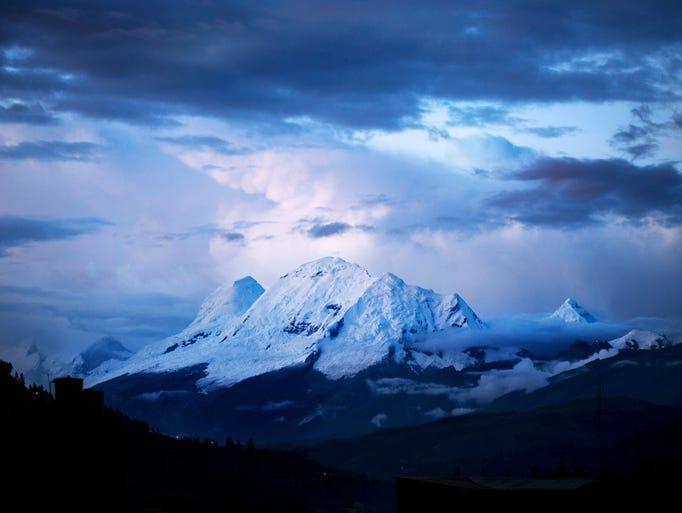 The mountain of Huascaran Sur, in the Cordillera Blanca