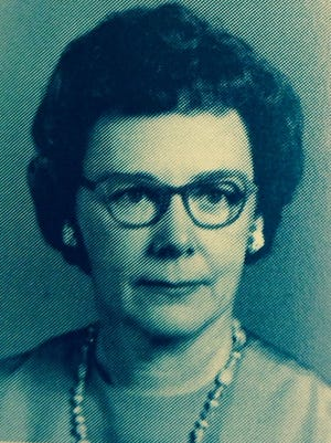 Mabel Smith, shown in a 1970 Tioga High yearbook photo, will be honored with a 99th birthday celebration at 3 p.m. Saturday at Tioga Junior High. She taught choir at Tioga High School from 1939 to 1975, winning numerous state championships.