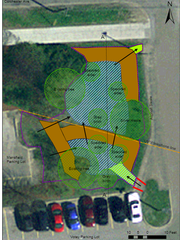 A proposed re-design of an under-performing raingarden