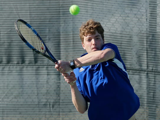 Oshkosh West junior Grant Counts is making his first trip to the WIAA state tennis tournament.