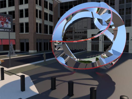 The selected sculpture represents Detroit's sports heritage and will debut…