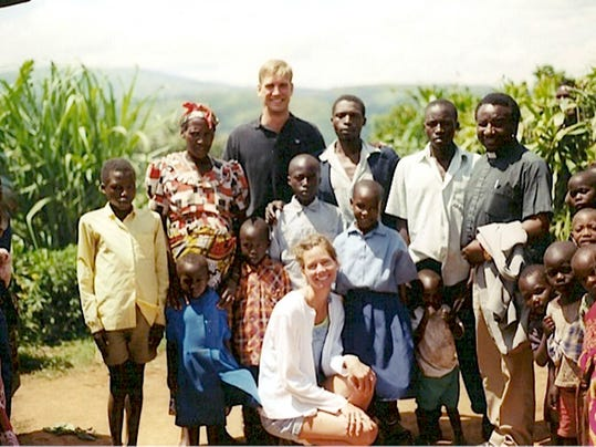 Former Penn State receiver Bill Spoor and his wife, Elke, are helping to defeat poverty in Uganda, a step at a time.