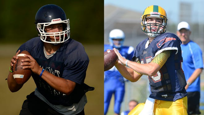 Bay Port's Alec Ingold, left, and Ashwaubenon's James Morgan, are two of the premier quarterbacks in the FRCC.