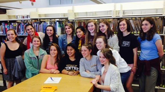 Asheville High field hockey player Katie Messersmith has signed to play in college for Centre (Ky.).