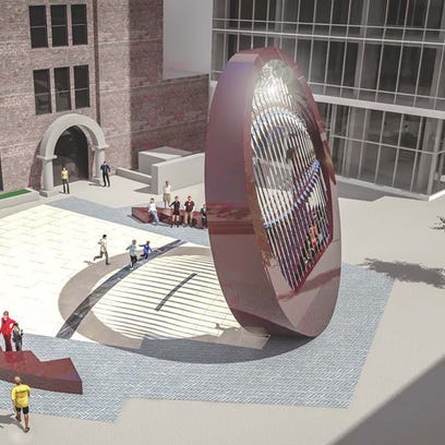 "The design for a work of public art, titled ""The Lens,"""