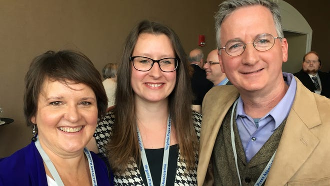 Deona Houff, Megan Williams and Jeff Schwaner were among the News Leader journalists being honored Saturday for their work in 2016.