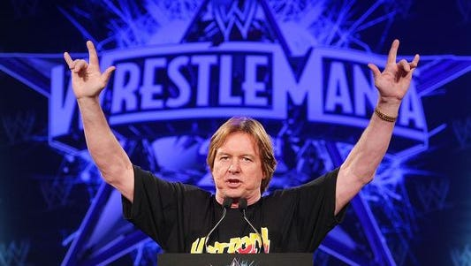 """NEW YORK - MARCH 31: """"Rowdy"""" Roddy Piper attends the WrestleMania 25th anniversary press conference at the Hard Rock Cafe on March 31, 2009, in New York City."""