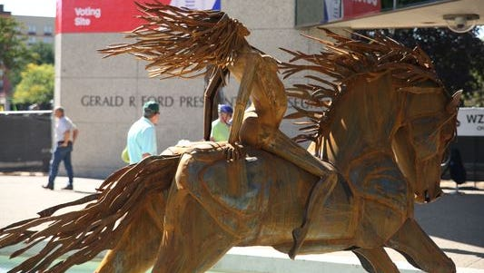 Images from ArtPrize 7's first day of competition at the Gerald R. Ford Presidential Museum.