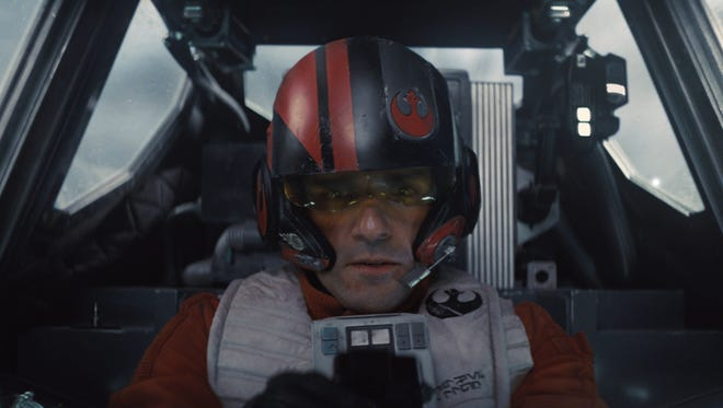 Poe Dameron (Oscar Isaac) in a scene from 'Star Wars: The Force Awakens'  ]