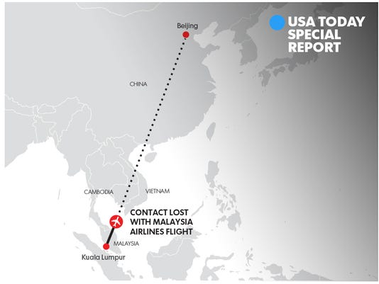 Map malaysia airlines plane vanishes specialreportmalaysia gumiabroncs Choice Image
