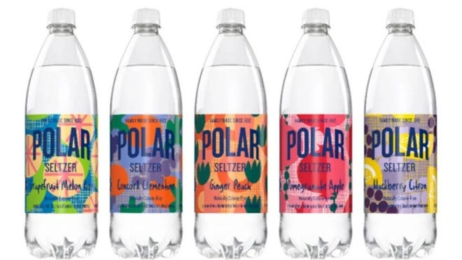Polar Beverages' winter 2020 line of flavored seltzers.