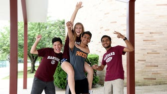 Clifton High School seniors Jesus Estrada, Santiago Guiran, Amanda Stetz and Mohammed Mutaher all will be attending Ivy League schools in the fall. Guiran will attend Princeton University and Mutaher, Stetz and Estrada are all heading to Harvard University. Thursday, June 21, 2018.