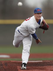 Kokomo Wildkats baseball player Jack Perkins (23) during a game at Grand Park on Friday, April 13, 2018.