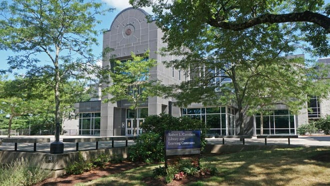 The Robert L. Carothers Library and Learning Commons at URI, shown last month as the campus prepared to open with coronavirus safety in mind. University officials say large gatherings of students have endangered that safety and will not be tolerated.