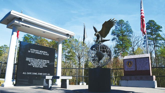 The newly renovated Hot Springs Village Veterans Memorial.