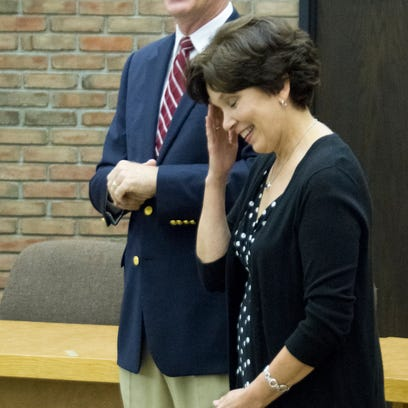 Gayle Reser reacts to her husband Jeff going off the reservation by telling a story about how they got together back in middle school. He had just been sworn in at the new Bucyrus mayor.