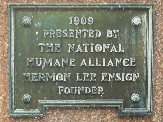 National Humane Alliance fountain