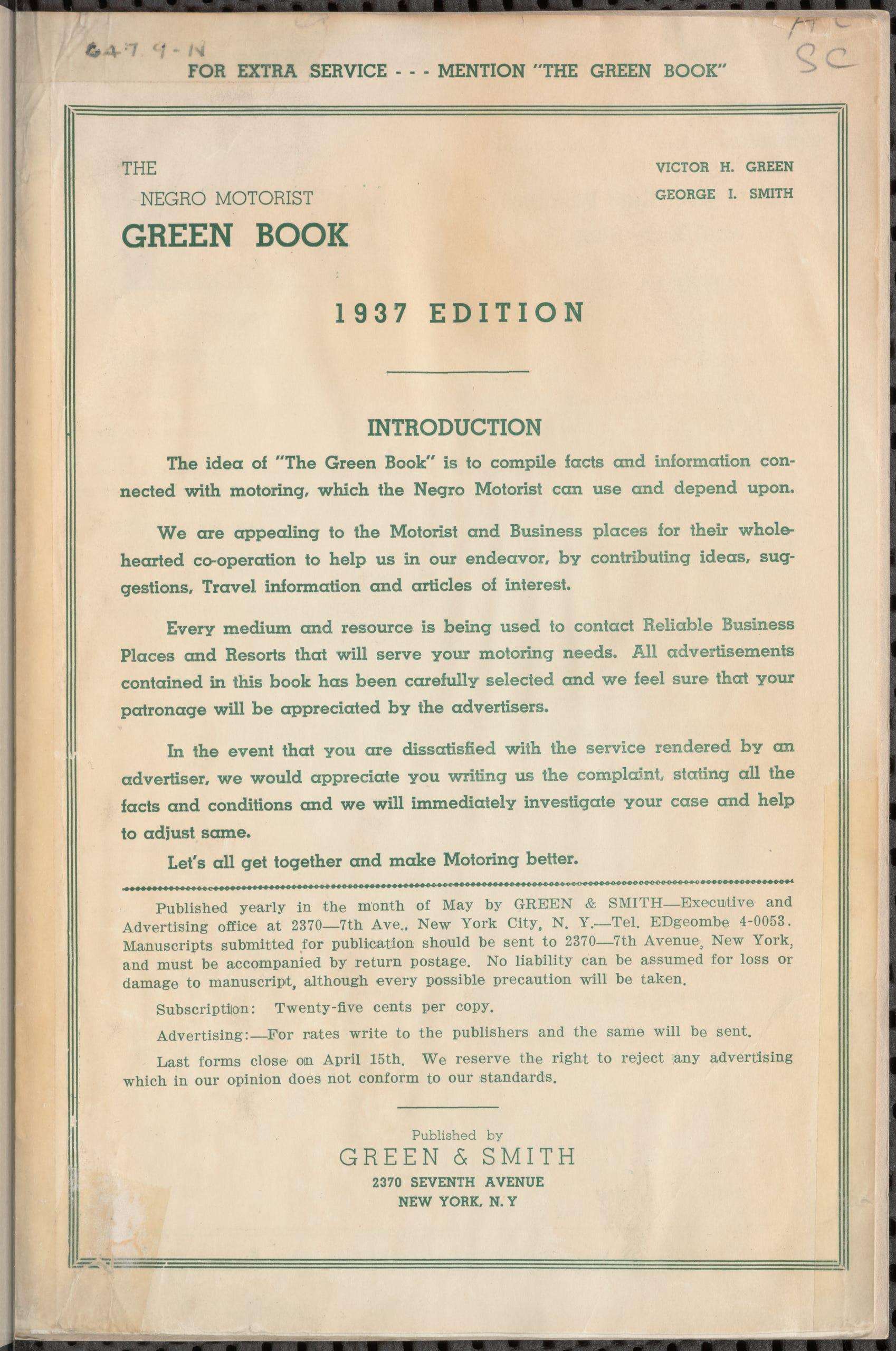 the green book black travelers