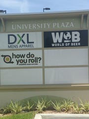 World of Beer, How Do You Roll and Beefstrohs are all under construction in University Plaza at Gulf Coast Town Center