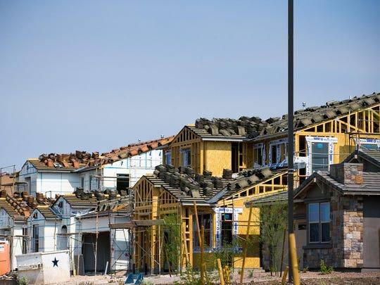 Housing construction at Trilogy at Vistancia Resort