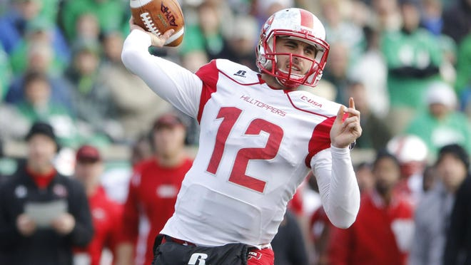 Western Kentucky quarterback Brandon Doughty leads a Hilltopper offense ranked towards the top in the country.