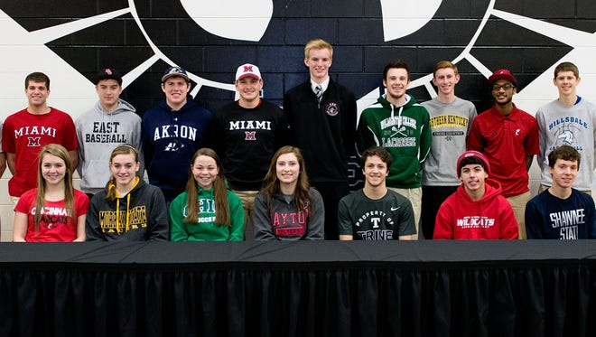 Twenty student athletes at Lakota East High School signed letters before family, friends and fellow athletes during ceremonies at the school.