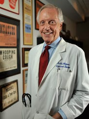 Dr. William Schaffner, an expert on infectious diseases at Vanderbilt University Medical Center, is photographed in his office in an undated hospital photo. Schaffner said Tuesday that Nashville's hepatitis outbreak is almost certainly larger than is currently known.