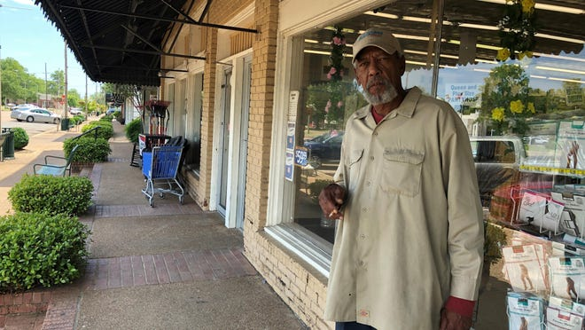 In this Monday, May 11, 2020, photo, Melvin Logan, 63, speaks with a reporter about the effects of casino closures in his hometown of Tunica, Miss. A county in the heart of the historically impoverished Mississippi Delta was dealt a serious economic blow by the new coronavirus. Gambling halls and associated businesses in Tunica County were shuttered for two months. That means thousands of people along the Blues Highway south of Memphis, Tennessee, were out of work.