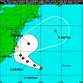 An 11 a.m. Sunday, Aug. 28 track of Tropical Depression Eight.