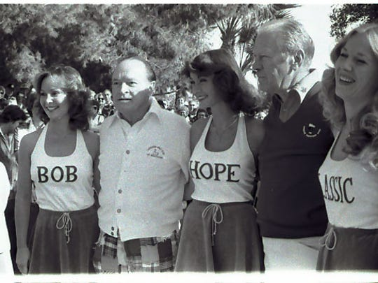 Bob Hope and former President Gerald R. Ford in 1979