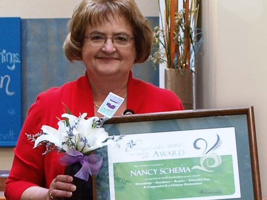 Nancy Schema was selected as second-quarter HFM Inspired Caring Award recipient.