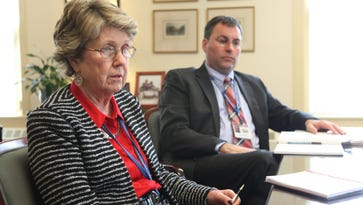 Chappaqua schools superintendent Lyn McKay and Assistant Superintendent Eric Byrne talk Jan. 15, 2014 about how their district is handling the Common Core learning standards.