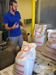 Sidecar Brewing co-owner Daniel Anderson explains that