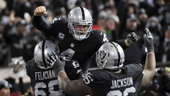 QB Derek Carr (4) hopes to lead the Raiders to their first winning record since 2002.