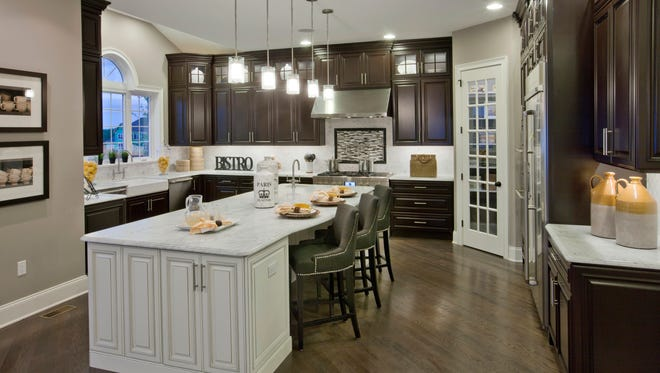 This kitchen from the Henley model in one of the NJ Toll Brothers communities shows the upscale, spacious yet efficient design that characterizes all Toll Brothers Kitchen.