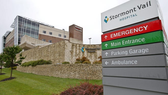 Stormont Vail Health System reported it is at its capacity for COVID-19 patients as of Monday.