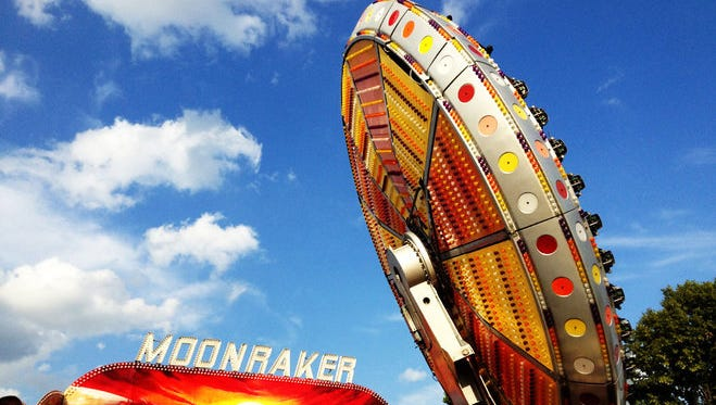 Eight people, including six children, were taken to area hospitals after a ride malfunctioned at the Delta Fair in Memphis on Saturday afternoon. The accident occurred on the Moonraker, a gravity ride that spins and uses centrifugal force coupled with a safety bar to hold riders in place.