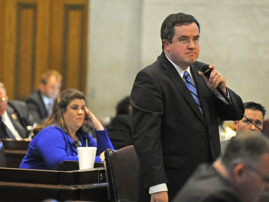 "Republican state Rep. Matthew Hill led a rules change requiring ethics complaints to be signed by at least two lawmakers, which he says is based on a ""biblical concept."""