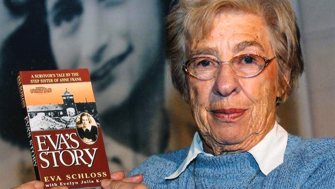 Eva Schloss, Anne Frank's stepsister, has written about surviving the Holocaust and living in the Auschwitz concentration camp.