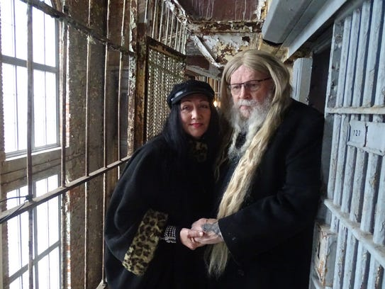 David Allan Coe and his wife, Kim, outside his former