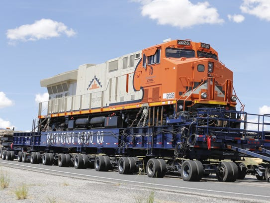 The new locomotive will join a similar one to haul