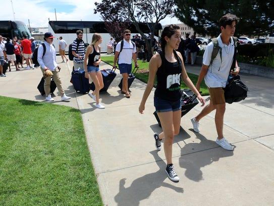 Madison Deal, left, of the Farmington High School Kelly