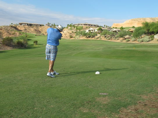 Teeing off in Mesquite for the 12th annual Chamber