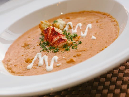 A bowl of Lobster Bisque photographed on Friday December